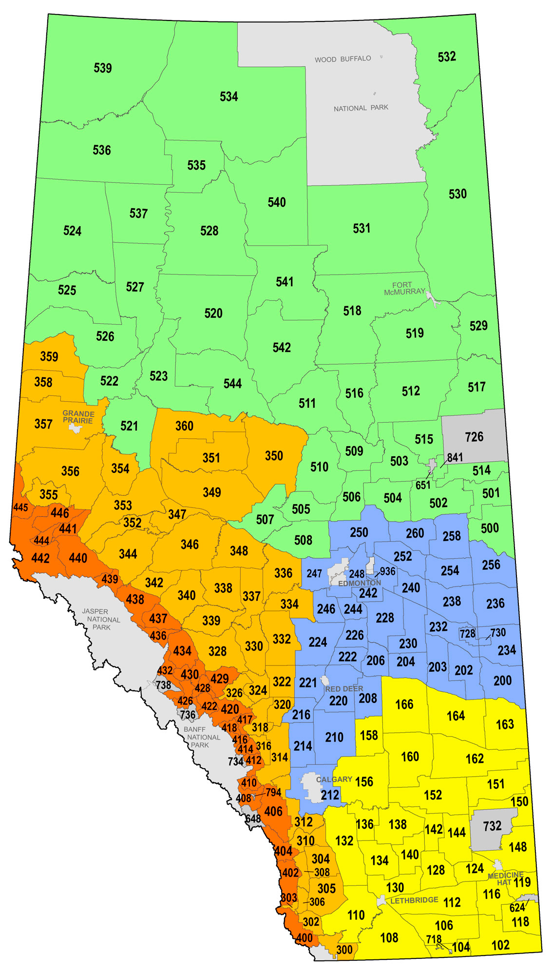 Wmu Map Alberta Big Game & Game Bird Seasons (WMUs)