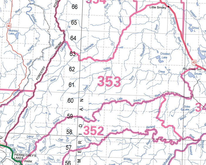 Forestry Trunk Road Map Alberta Guide to Hunting Regulations Forestry Trunk Road Map
